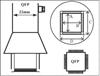 AOYUE [1125] Hot Air Nozzle QFP 10x10 mm šoba za vroči zrak