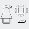 AOYUE [1134] Hot Air Nozzle SOP 7.5x18mm šoba za vroč zrak.
