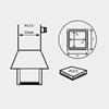 AOYUE [1135] Hot Air Nozzle PLCC 17.5x17.5mm šoba za vroč zrak