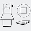 AOYUE [3636] Hot Air Nozzle BGA 35x35  šoba za spajkalno postajo na vroč zrak