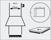 AOYUE [4343] Hot Air Nozzle BGA 42x42 šoba za spajkalno postajo na vroč zrak