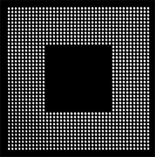 Aoyue PS3 CPU Reballing BGA šablona 0.60 mm