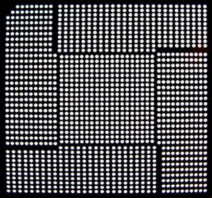 Aoyue QG82945PM Reballing BGA šablona 0.50 mm