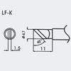Aoyue WQ/LF-K  spajkalna konica 1.5mm / 45° / Ø4.7mm - brezsvinčeno spajkanje