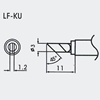Aoyue WQ/LF-KU spajkalna konica 1.2mm 45°Ø3mm - brezsvinčeno spajkanje