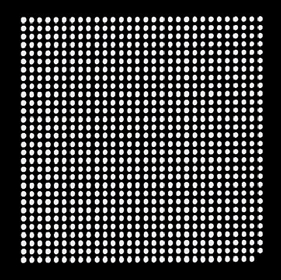 Aoyue XBOX360CPU Reballing BGA šablona 0.60 mm