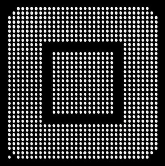 Aoyue XBOX360GPU Reballing BGA šablona 0.60 mm