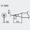 Aoyue WQ/LF-08D Spajkalna konica Ø0.8mm x 0.5mm - brezsvinčeno spajkanje