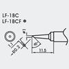 Aoyue WQ/LF-1BC spajkalna konica ovalna Ø1.0mm R0.2mm - brezsvinčeno spajkanje