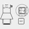 Picture of AOYUE [1203] Hot Air Nozzle BQFP35x35 šoba za spajkalne postaje na vroč zrak