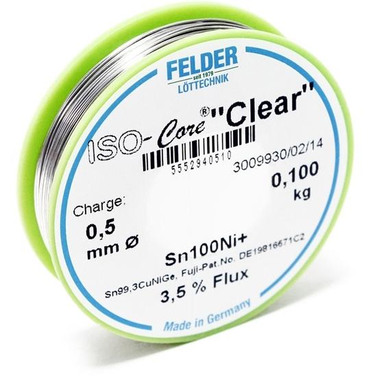 "Felder spajkalna žica ISO-Core ""Clear"" Sn100Ni+Sn99,3CuNiGe 0,5mm 0,1kg"