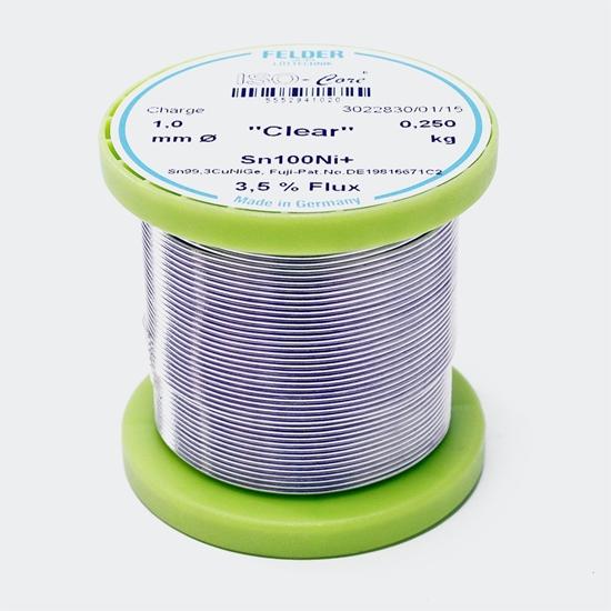 "Felder spajkalna žica ISO-Core ""Clear"" Sn100Ni+Sn99,3CuNiGe 1,0mm 0,25kg"