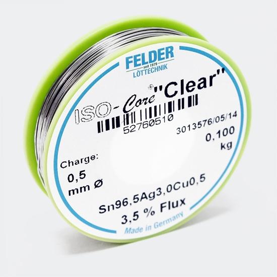 "Felder spajkalna žica ISO-Core ""Clear""  SAC305 Sn96.5Ag3Cu0.5 0,5mm 0,1kg"