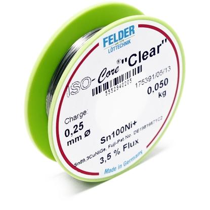 "Felder spajkalna žica ISO-Core ""Clear"" Sn100Ni+Sn99,3CuNiGe 0,25mm 0,05kg"
