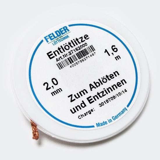 Felder razspajkalna žica flux-soaked 2,0mm 1,6m